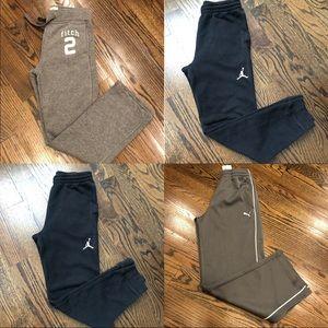 🎈4 Boys Pants Jordan Puma Abercrombie kids 8-11